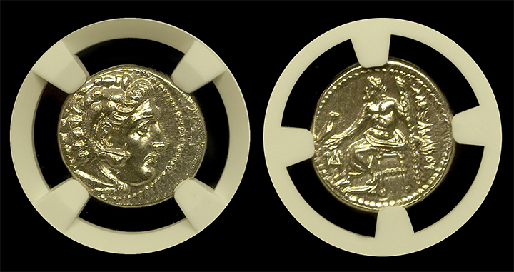 Alexander The Great Silver Drachm - Both Sides