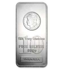 Morgan Silver Bullion Bars 10 oz