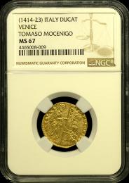 1414-1423 Venetian Ducat NGC MS 67 - in Holder