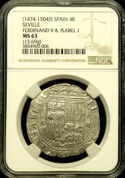 1474-1504 Spanish 4 Reale Seville Ferdinand & Isabel