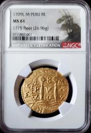 1709 Peruvian 8 Escudo NGC MS 61