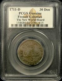 1711 D French Denier PCGS Genuine