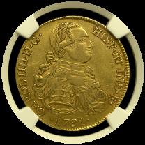 1791 Bolivian 8 Escudo NGC AU 50