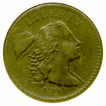 1794 Large Bust Cent - Obverse