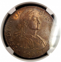 1809 Mexican 8 Reale NGC Mint State 63