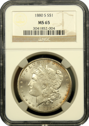 Morgan Silver Dollars NGC/PCGS MS-65
