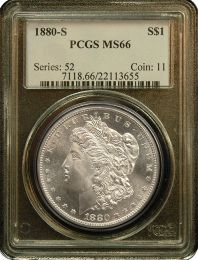 Morgan Silver Dollars NGC/PCGS MS-66