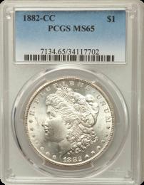 1882 CC Morgan ngc 65