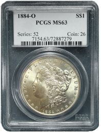 Morgan Silver Dollars NGC/PCGS MS-63