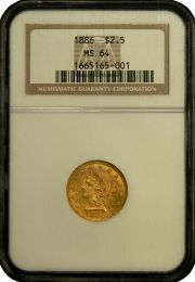 $2 1/2 Liberty Gold Coin NGC/PCGS MS-64