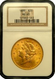 $20 Liberty Gold Coin NGC/PCGS MS-63 - In Holder