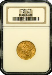 $5 Liberty Gold Coin NGC/PCGS MS-64