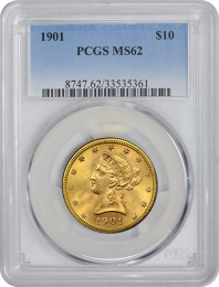 $10 Liberty Gold Coin NGC/PCGS MS-62