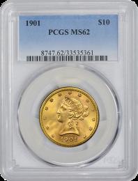 $10 Liberty Gold Coin NGC/PCGS MS-62