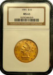$10 Liberty Gold Coin NGC/PCGS MS-63