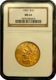 $10 Liberty Gold Coin NGC/PCGS MS-64 - In Holder