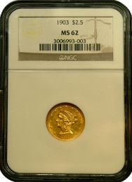 $2 1/2 Liberty Gold Coin NGC/PCGS MS-62