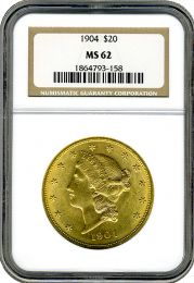 $20 Liberty Gold Coin NGC/PCGS MS-62 - In Holder