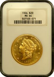 $20 Liberty Gold Coin NGC/PCGS MS-64 - In Holder