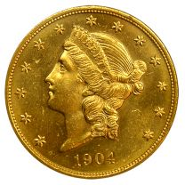 $20 Liberty Gold Coin - About Uncirculated Condition
