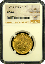 1907 $10 Indian Gold Coin NGC/PCGS MS 62