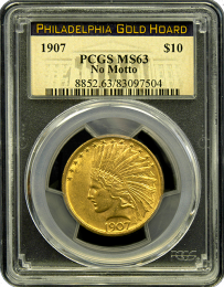 1907 $10 Indian Gold Coin NGC/PCGS MS 63