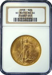 $20 Saint-Gaudens Gold Coin NGC/PCGS MS-66