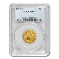 $5 Indian Gold Coin NGC/PCGS MS-63 - In Holder