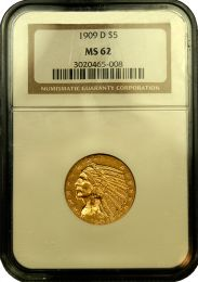 $5 Indian Gold Coin NGC/PCGS MS-62 - In Holder