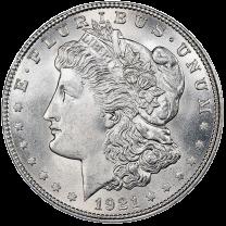 1921 Morgan Silver Dollars