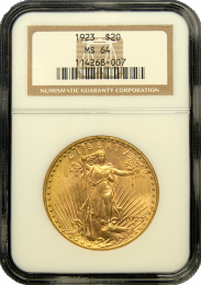 $20 Saint-Gaudens Gold Coin NGC/PCGS MS-64