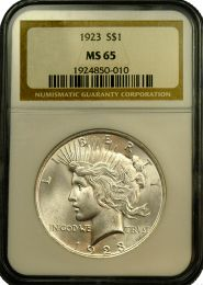 Peace Silver Dollars NGC/PCGS MS-65