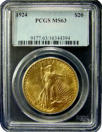 $20 Saint-Gaudens Gold Coin NGC/PCGS MS-63
