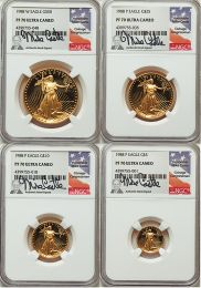 1988 Proof 70 Gold American Eagle 4 Coin Set