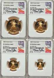 1989 Proof 70 Gold American Eagle 4 Coin Set