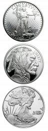 Silver Rounds - 1 Oz. Our Choice Design .999 Fine