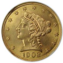 $2 1/2 Liberty Gold Coin - About Uncirculated Condition