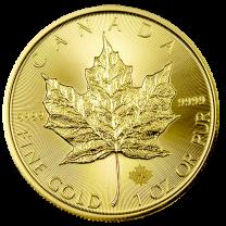 2015 Canadian Gold Maple Leaf Coins - 1 oz. - Obverse