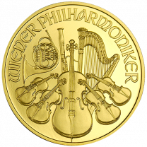 1-oz. Gold Austrian Philharmonics (Back-Dates)