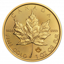 1 oz. - 2018 Canadian Maple Leaf Gold Coins