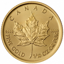 1/10 oz. - 2018 Canadian Maple Leaf Gold Coins