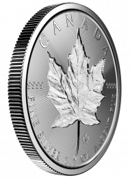 Double-Incuse Canadian Maple Leaf Silver Coins