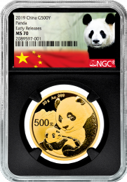 30 gram - 2019 China Panda Gold Coin
