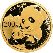 15 gram - 2019 China Panda Gold Coin