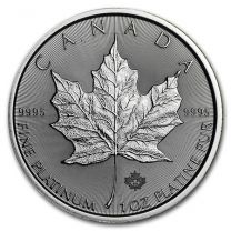 Canadian Maple Leaf Platinum Coins - 1 oz. Any Date