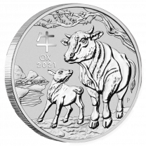 One Kilo 2021 Australian Silver Year of the Ox - Reverse
