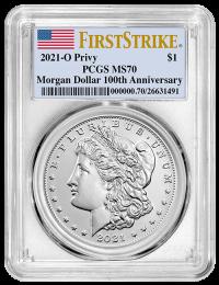 2021-O Privy Morgan Silver Dollar PCGS MS-70 First Strike - Obverse