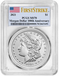 2021(Philly) Morgan Silver Dollar PCGS MS-70 First Strike - Obverse