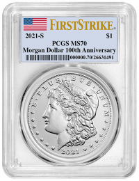 2021-S Morgan Silver Dollar PCGS MS-70 First Strike - Obverse