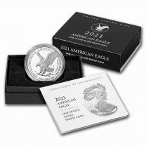 (Type 2) 2021-San Fran Proof Silver American Eagles (with original box and certs)